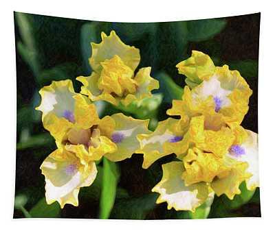 Yellow Irises - Joyful Reunion - By Omaste Witkowski Tapestry