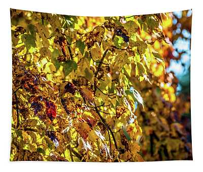 Yellow Leaves Tapestry