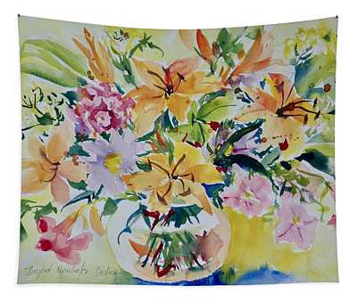 Yellow Lilies Tapestry