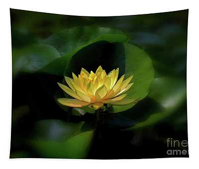 Tapestry featuring the photograph Yellow Lotus by Patti Whitten