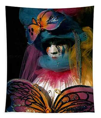 Yellow Pink Blue Butterfly Tapestry