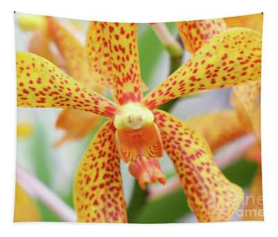 Yellow Spotted Spider Orchids Tapestry