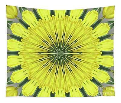 Yellow Tulips Kaleidoscope Mandala Abstract 1 Tapestry