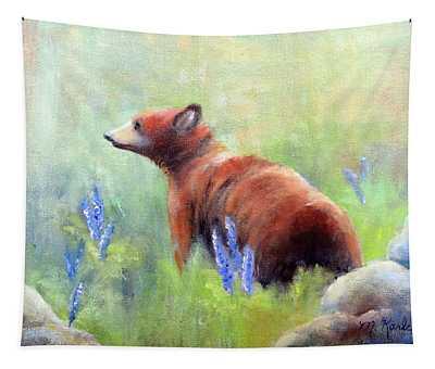 Yellowstone Black Bear Tapestry