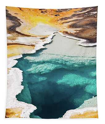 Yellowstone Hot Spring Vertical Tapestry