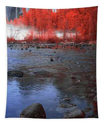 Yosemite River In Red Tapestry