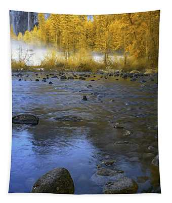 Yosemite River In Yellow Tapestry
