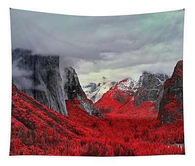 Yosemite Valley In Red Tapestry
