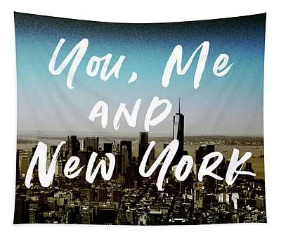 You Me New York Color- Art By Linda Woods Tapestry