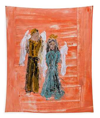 Young Love Angels Tapestry