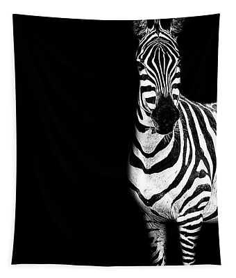 Zebra Drama Tapestry