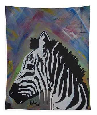 Zebra Drip Tapestry