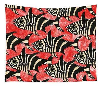 Zebra Fish 5 Tapestry