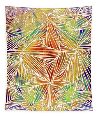 Zen Energy And Electricity In Motion Abstract Digital Mixed Media Artwork By Omaste Witkowski Tapestry