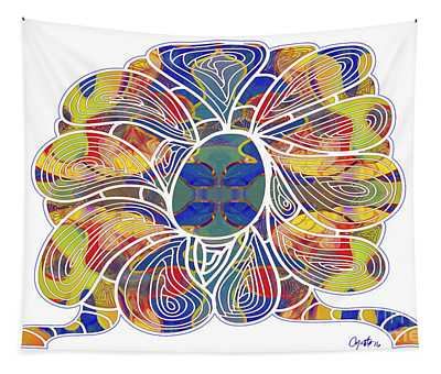 Zen Flower Abstract Meditation Digital Mixed Media Art By Omaste Witkowski Tapestry