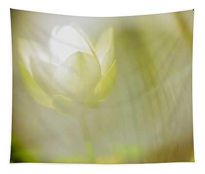 Zen Lemon Lotus Blossom Tapestry