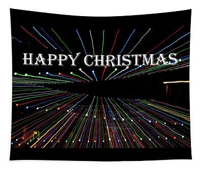 Zoom Blur - Happy Christmas Tapestry