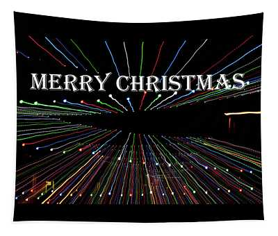Zoom Blur - Merry Christmas Tapestry