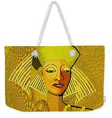 189 Metallic Woman Golden Pearls Weekender Tote Bag