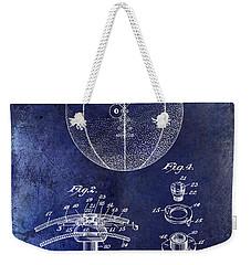 1927 Basketball Patent Drawing Blue Weekender Tote Bag