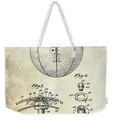 1927 Basketball Patent Drawing Weekender Tote Bag