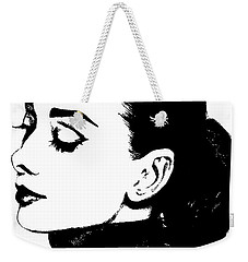 # 4 Audrey Hepburn Portrait. Weekender Tote Bag by Alan Armstrong