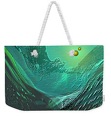 577 -  Ocean World Crystal Green.. Weekender Tote Bag by Irmgard Schoendorf Welch