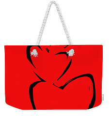 Weekender Tote Bag featuring the painting  A Stack Of Hearts by Go Van Kampen
