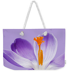 Abstract Purple Crocus Weekender Tote Bag
