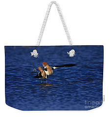 Weekender Tote Bag featuring the photograph Courtship Cross by John F Tsumas