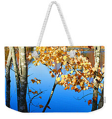 Autumn Trees On The Lake Weekender Tote Bag