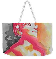Barbra Streisand Weekender Tote Bag by Chrisann Ellis