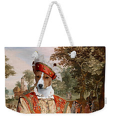 Basenji Art Canvas Print Weekender Tote Bag