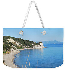 Weekender Tote Bag featuring the photograph  Beach by George Katechis