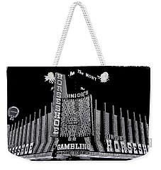 Binion's Horseshoe Casino Exterior Casino Center Las Vegas Nevada 1979-2014 Weekender Tote Bag