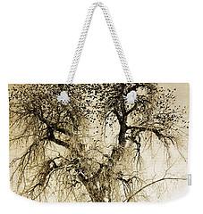 Bird Tree Fine Art  Mono Tone And Textured Weekender Tote Bag