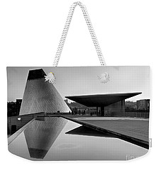 Black And White Mog Reflections  Weekender Tote Bag by Chris Anderson