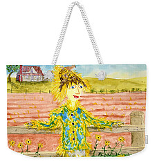 Cheerful Scarecrow Weekender Tote Bag