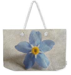 Myosotis 'forget-me-not'- Single Flower Weekender Tote Bag