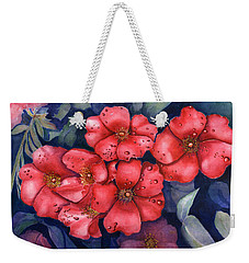 Dew Flowers Weekender Tote Bag