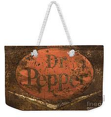 Dr Pepper Vintage Sign Weekender Tote Bag