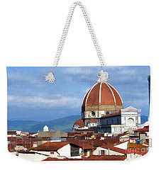 Weekender Tote Bag featuring the photograph  Duomo Of Florence # 3 by Allen Beatty
