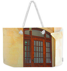 Weekender Tote Bag featuring the photograph  Elegant Arched Entrance by Judy Palkimas