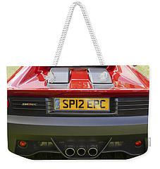 Weekender Tote Bag featuring the photograph  Ferrari Sp12 Ec by Maj Seda