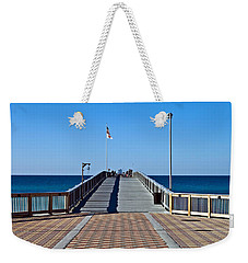 Fishing Pier Weekender Tote Bag by Susan Leggett