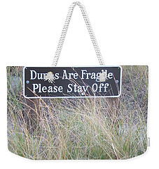 Weekender Tote Bag featuring the photograph Sand Dune  by Eunice Miller