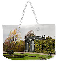 Weekender Tote Bag featuring the photograph  Garden Gate Schonbrunn Palace Vienna Austria by Imran Ahmed