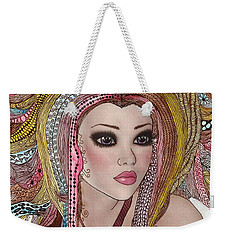 Girl With The Rainbow Hair Weekender Tote Bag