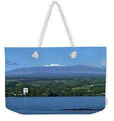 Maunakea Snow Over Hilo Bay Hawaii Weekender Tote Bag