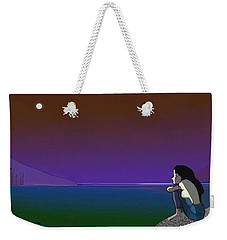 075 - Sitting At The Edge Of The Bay Weekender Tote Bag by Irmgard Schoendorf Welch